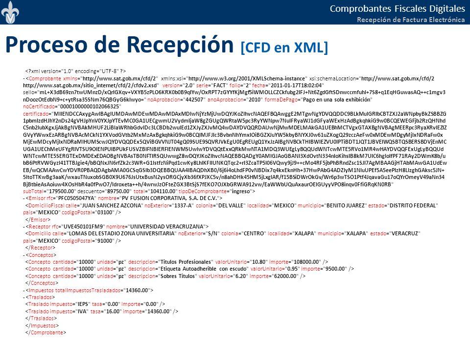 Proceso de Recepción [CFD en XML]